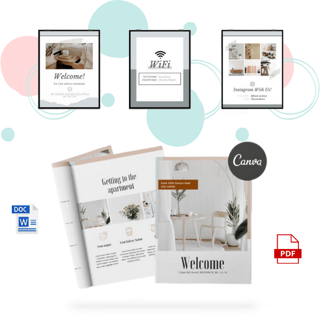 Airbnb welcome book template for house manual